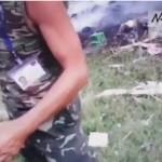 Первые минуты после трагедии МН17 над Донбассом. Видео (18+)