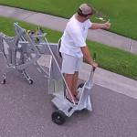 Изобретатель создал шагающую машину, вставив дрель вместо двигателя
