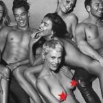 Ирина Шейк снялась обнаженной в групповой эротической фотосессии