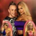 Россиянка и ее парень потратили $300 000 чтобы быть похожими на Барби и Кена