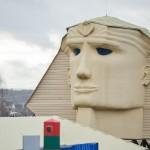 Белорус построил дом в виде египетского сфинкса