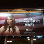 Фото Мелании Трамп использовали для рекламы курсов английского языка
