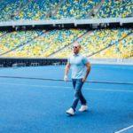 Джейсон Стэтхем снялся в рекламе в Киеве на НСК Олимпийский