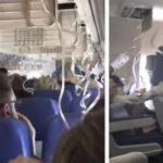 Появились видео из Боинга Southwest Airlines после взрыва двигателя