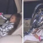 Глава федерации футбола Украины дал дочери поиграть с кубком Лиги чемпионов