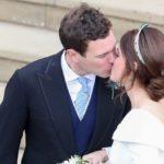 Британская принцесса Евгения вышла замуж — в платье, открывающем шрам от операции