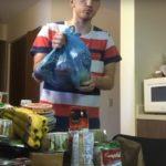 Россиянин показал, сколько еды в США он получает бесплатно