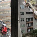 Стихия бушует в США: упавший на дом кран, наводнение и чрезвычайное положение (фото)