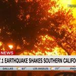 Последствия мощнейшего землетрясения в Калифорнии: пожары, разрушения и запрос на ЧП (видео)