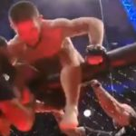 Хабиб Нурмагомедов после победы над американцем опять выпрыгнул из клетки (видео)